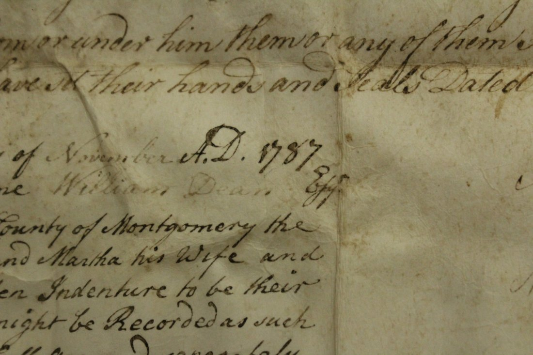 Dated 1787 INDENTURE With SEALS, FRAMED Under Glass - 5