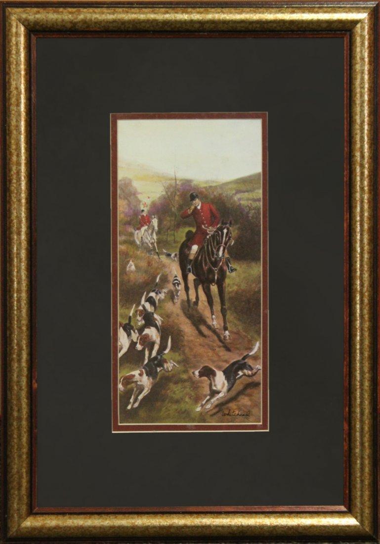 WHITEHEAD, English Hunt Scene Framed