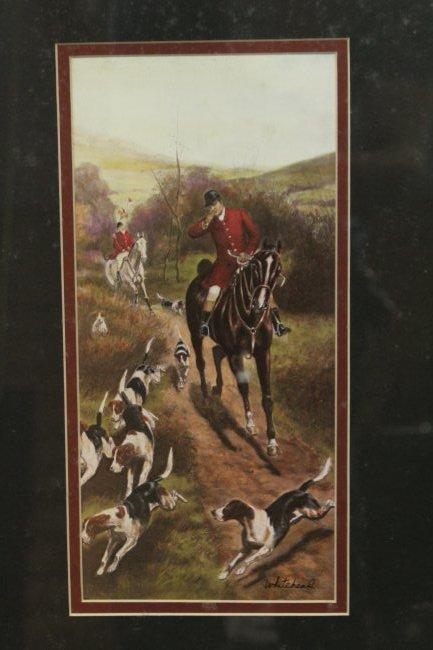 WHITEHEAD, English Hunt Scene Framed - 2