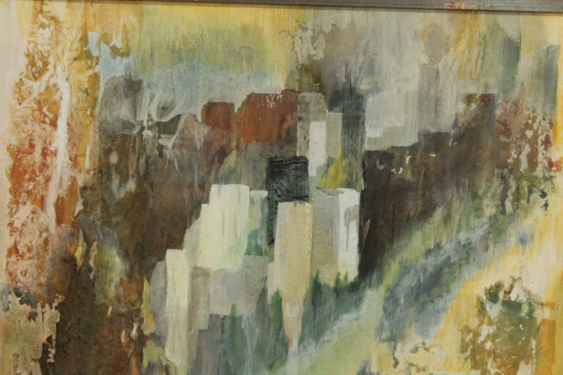 VIRGINIA HASKINS, Mixed Media Mid-Century ABSTRACT - 2