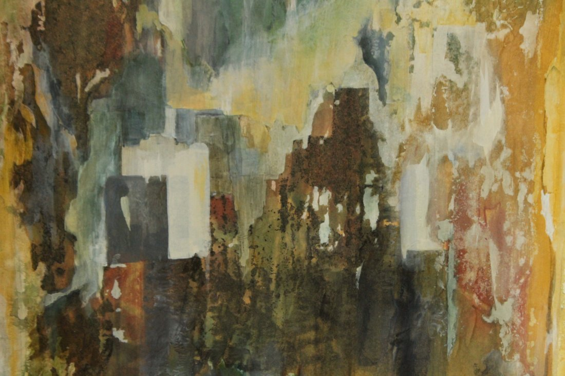 VIRGINIA HASKINS, Mixed Media Mid-Century ABSTRACT - 3