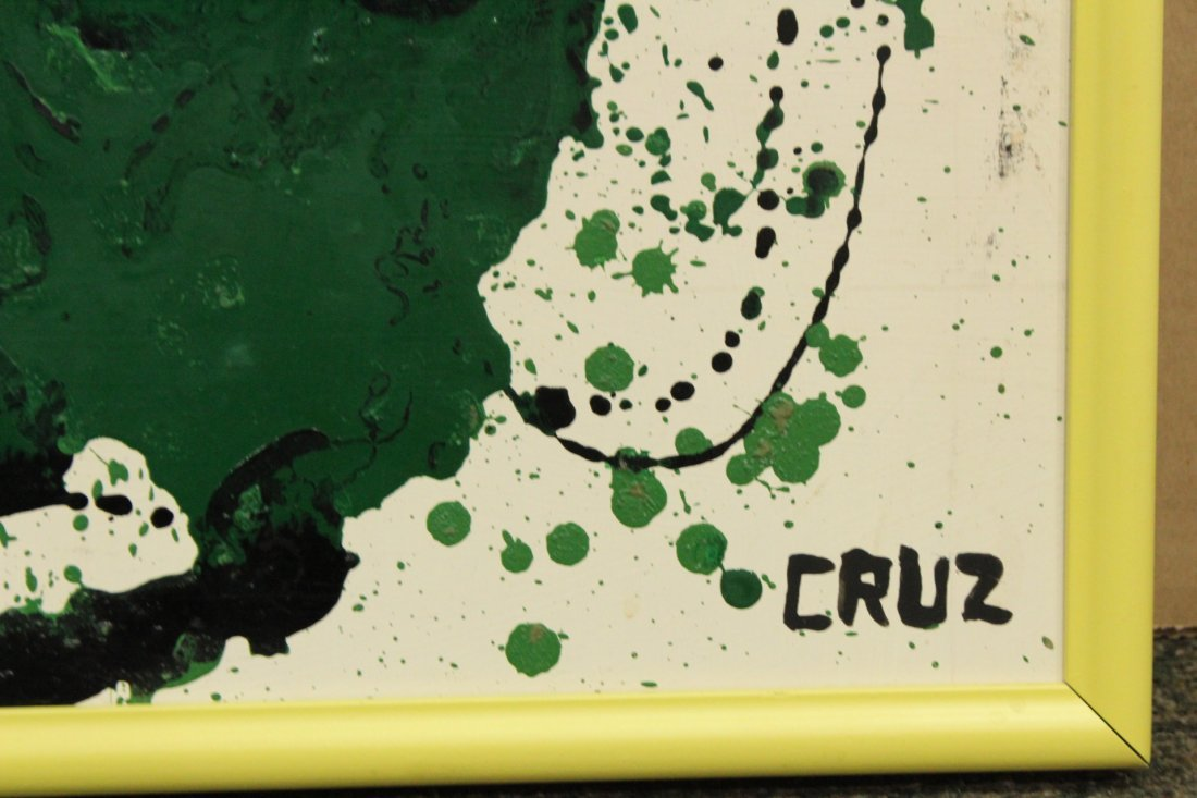 CRUZ, Mid Century Modern LATIN AMERICAN ABSTRACT OIL/B - 4