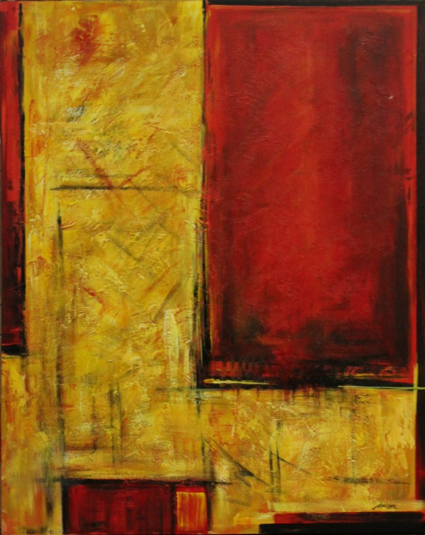 MAX, Artists Guild of America MODERNISM ABSTRACT Signed