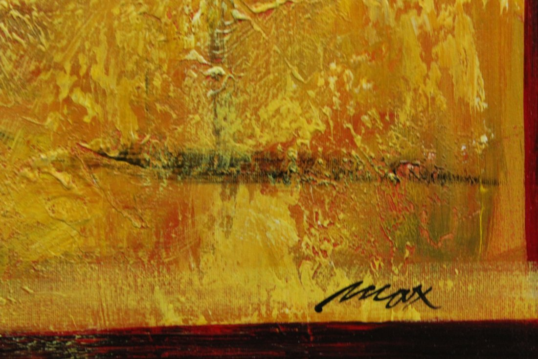 MAX, Artists Guild of America MODERNISM ABSTRACT Signed - 4
