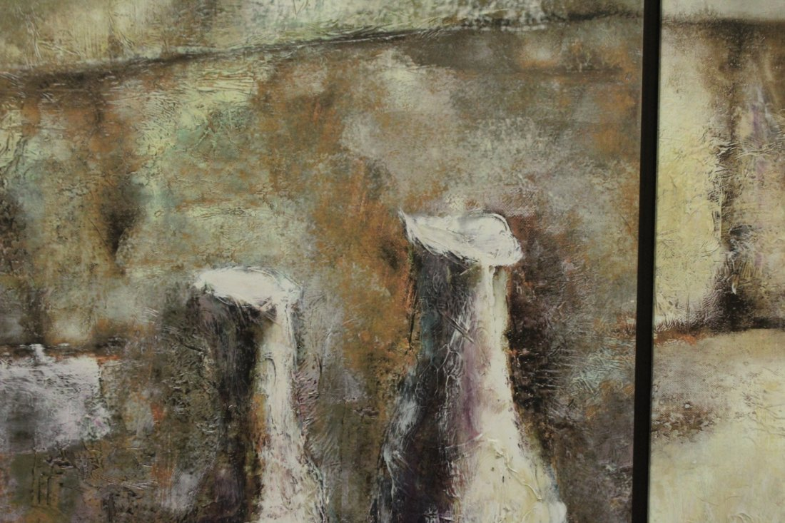 Mid-Century Modern ABSTRACT DIPTYCH OIL PAINTING - 2