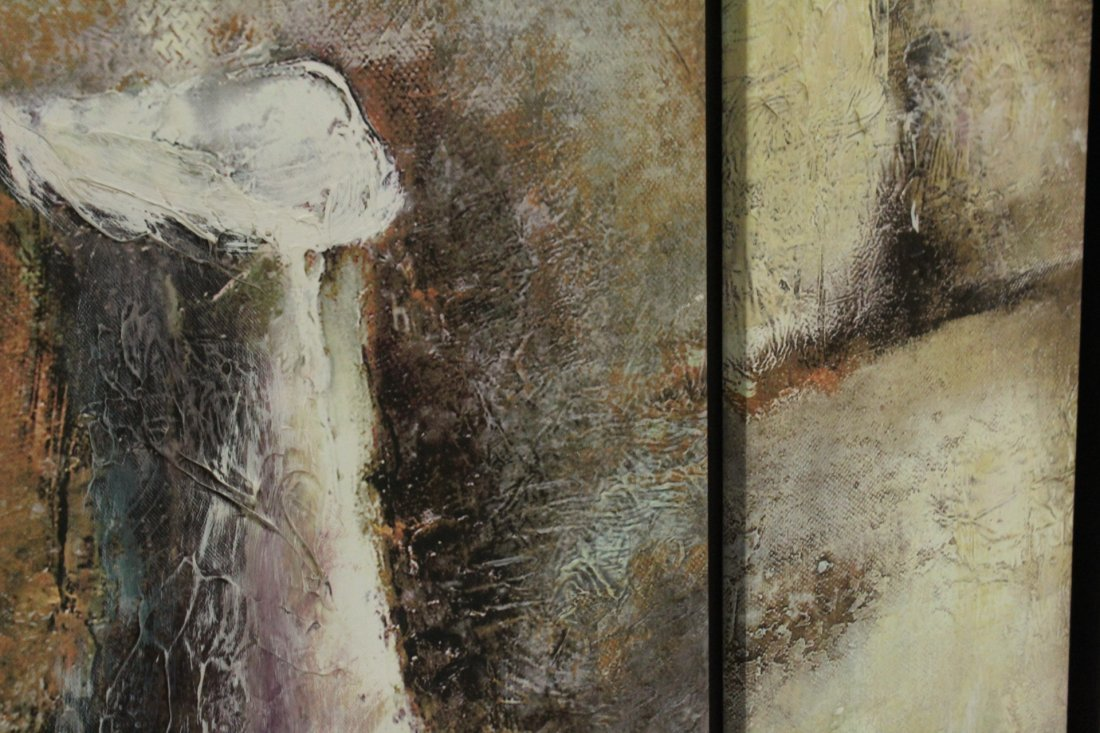 Mid-Century Modern ABSTRACT DIPTYCH OIL PAINTING - 4