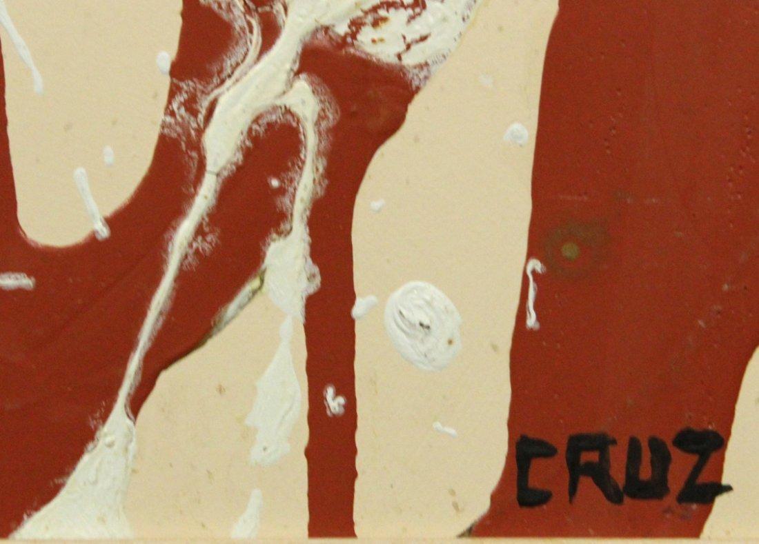 CRUZ, Mid Century Modern LATIN AMERICAN ABSTRACT OIL/B - 3