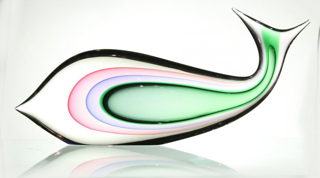 LUIGI ONESTO MURANO ITALY GLASS FISH - Internal Decor