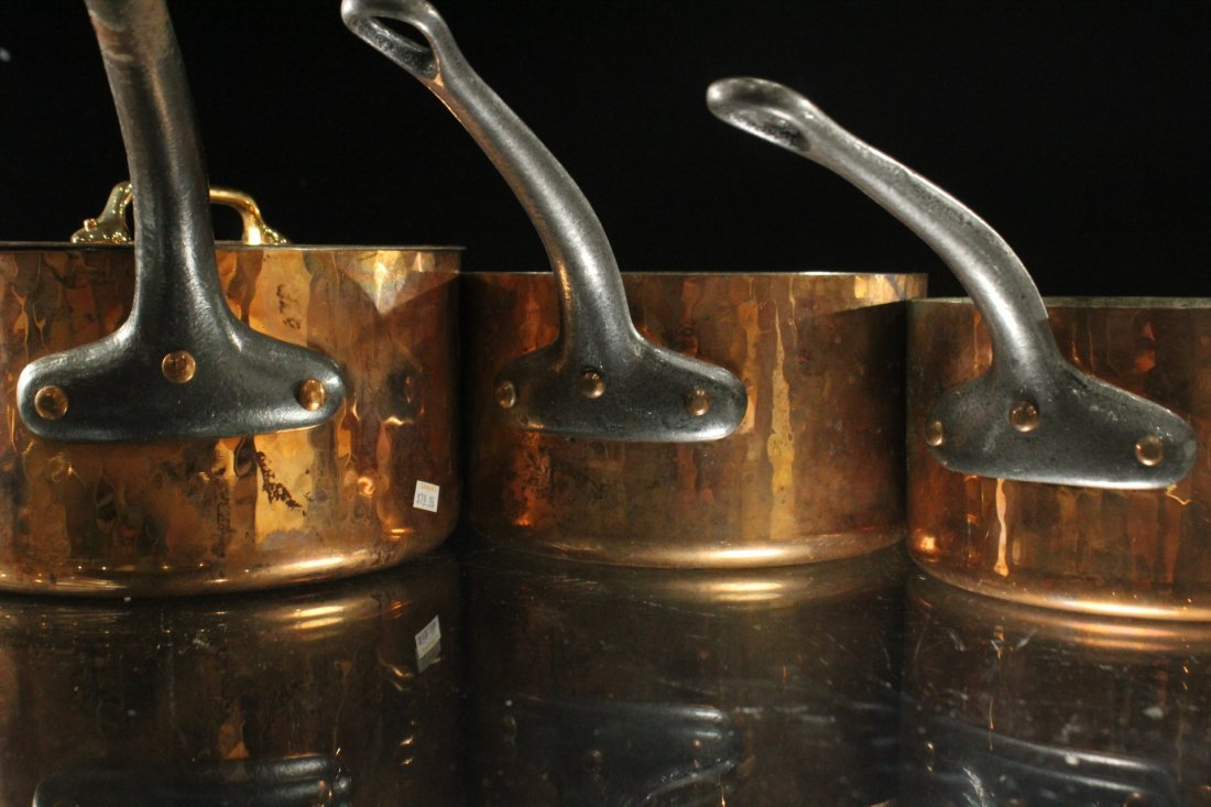 Five [5] Assorted FRENCH COOPER COOKWARE POTS - 4