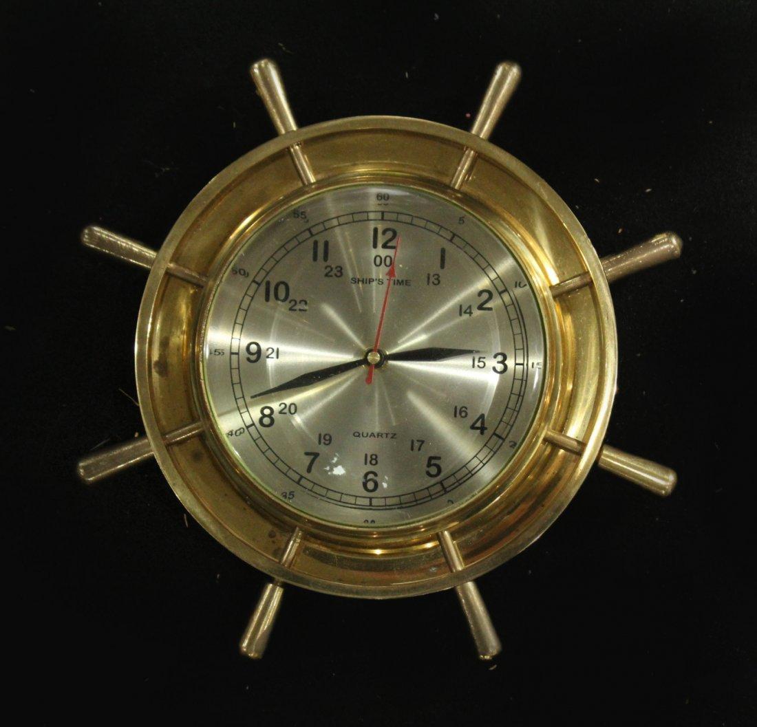 Modern Design Brass Ships Wall Clock - Quartz