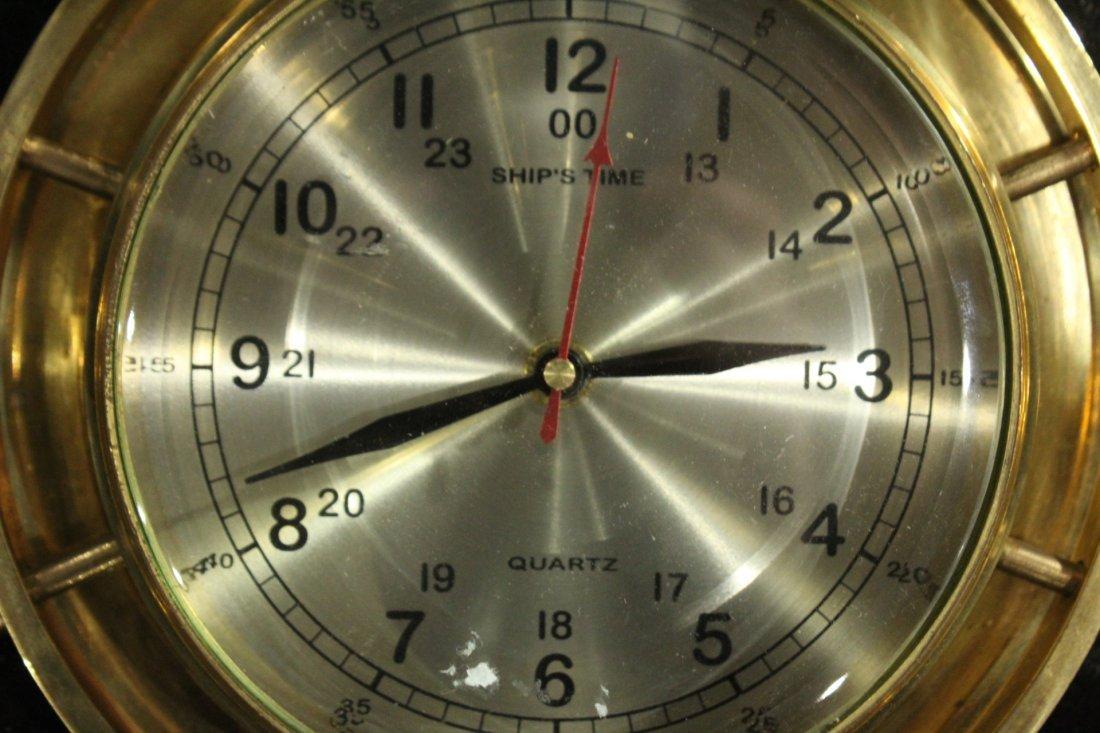 Modern Design Brass Ships Wall Clock - Quartz - 2