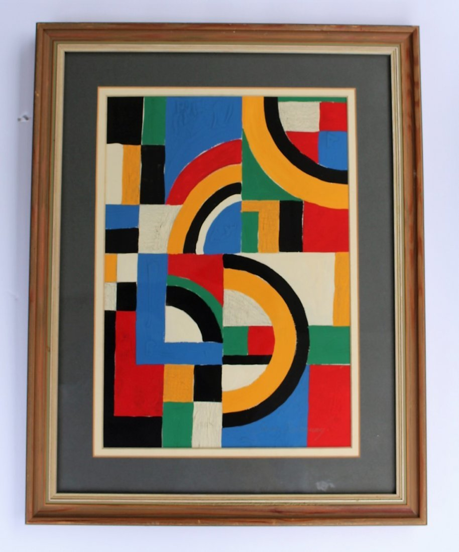 SONIA DELAUNAY , Gouache on Paper COLORFUL ABSTRACT - 4