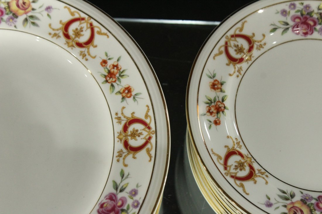 France Charles Ahrenfeldl Limoges Dinner set - 6