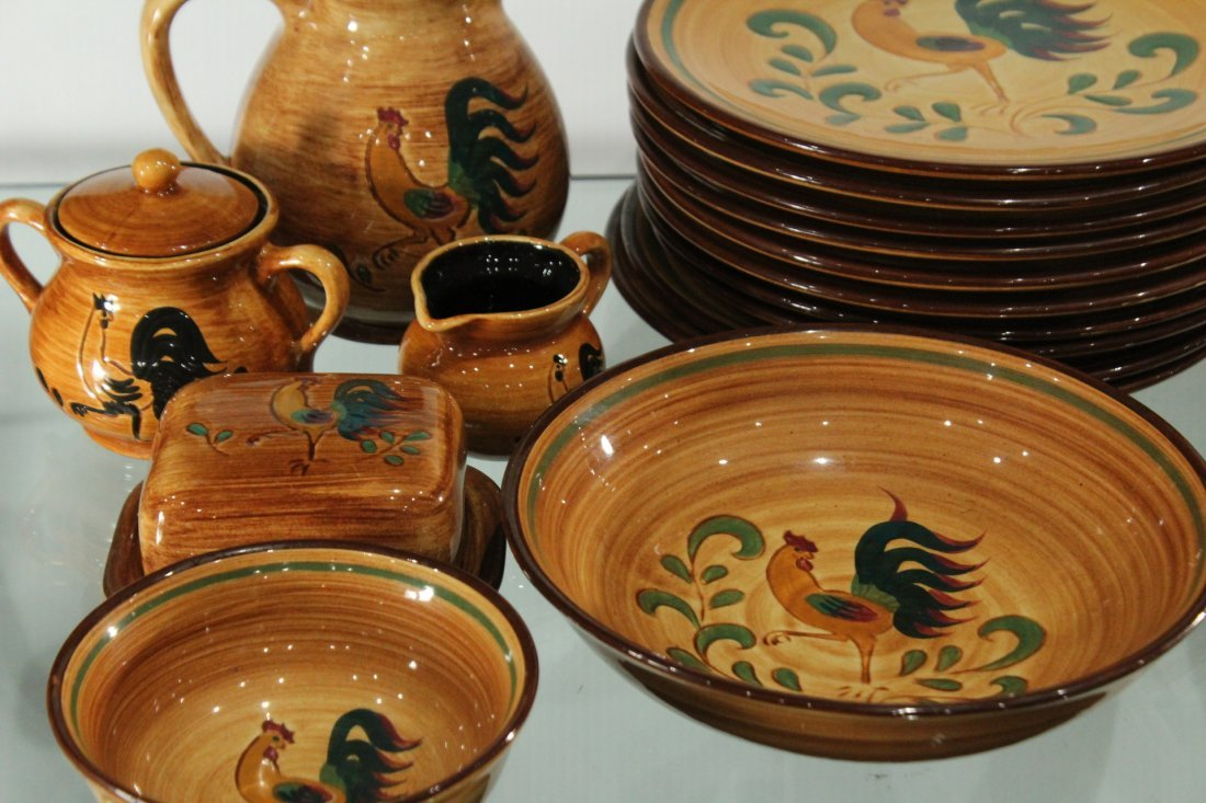 Rooster Pennsbury Pottery Dinner Set - 2