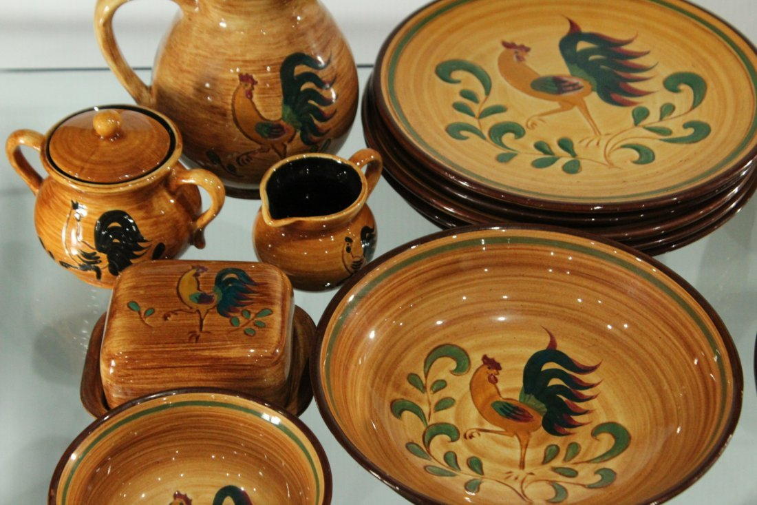 Rooster Pennsbury Pottery Dinner Set - 3