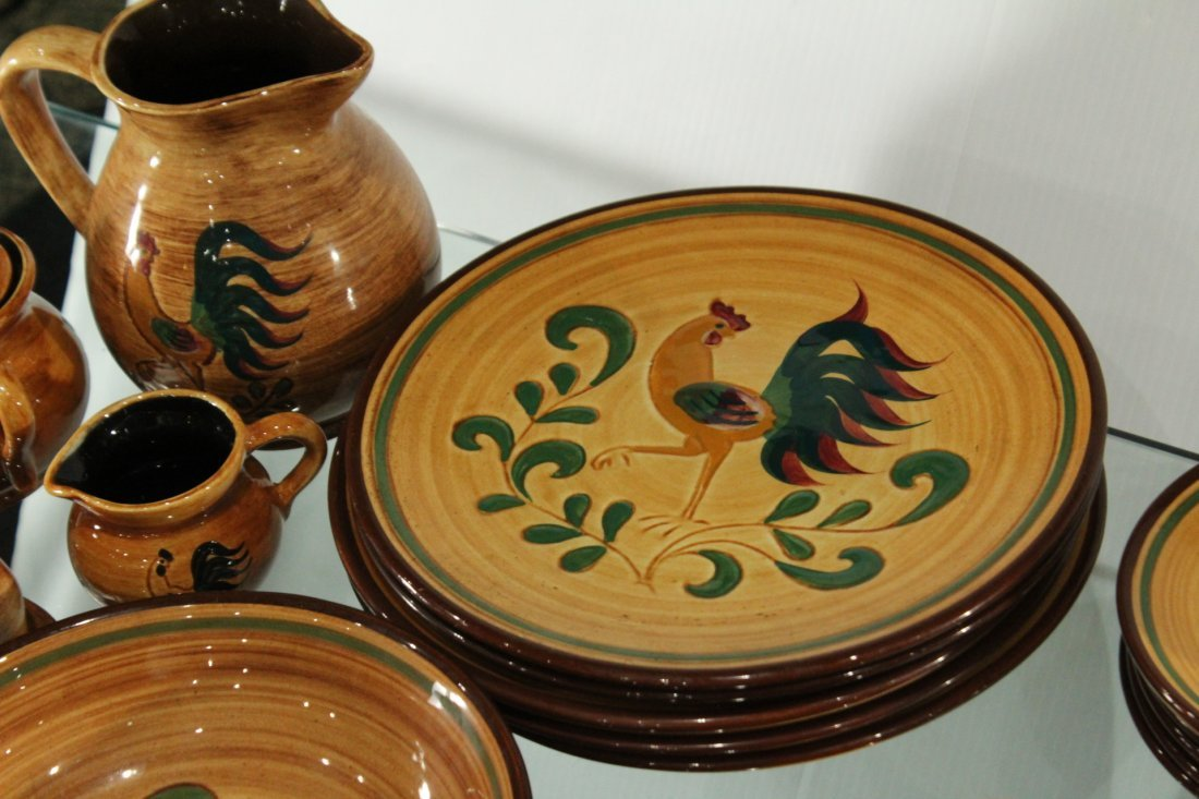 Rooster Pennsbury Pottery Dinner Set - 6