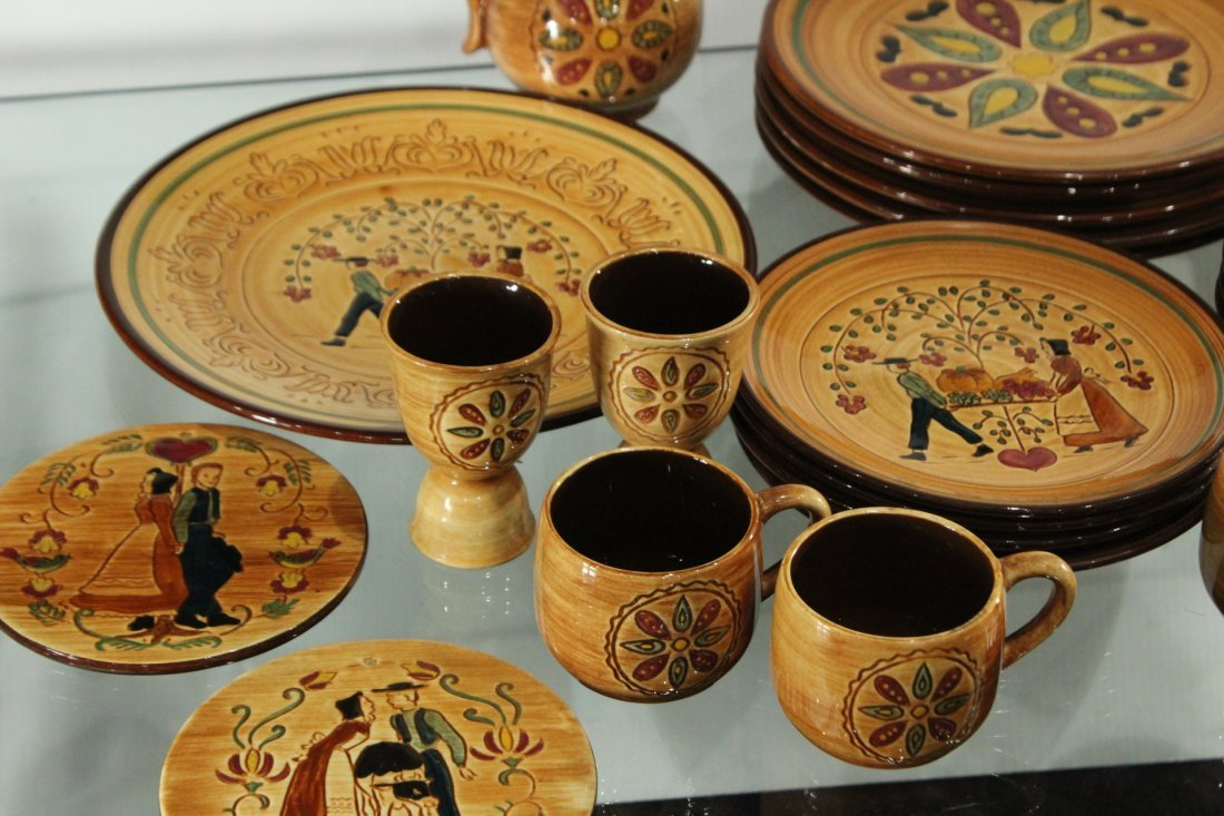 Pennsbury Pottery Dinner set Country star - 2