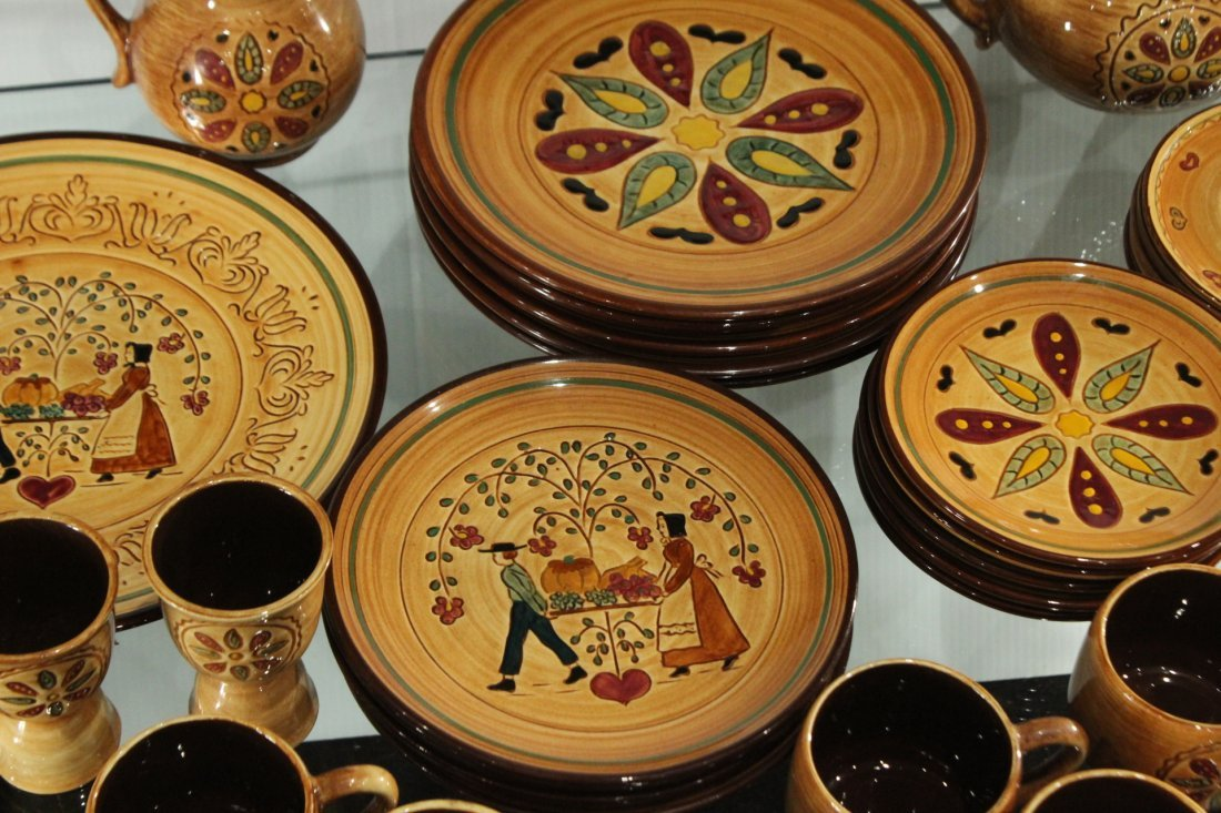 Pennsbury Pottery Dinner set Country star - 3