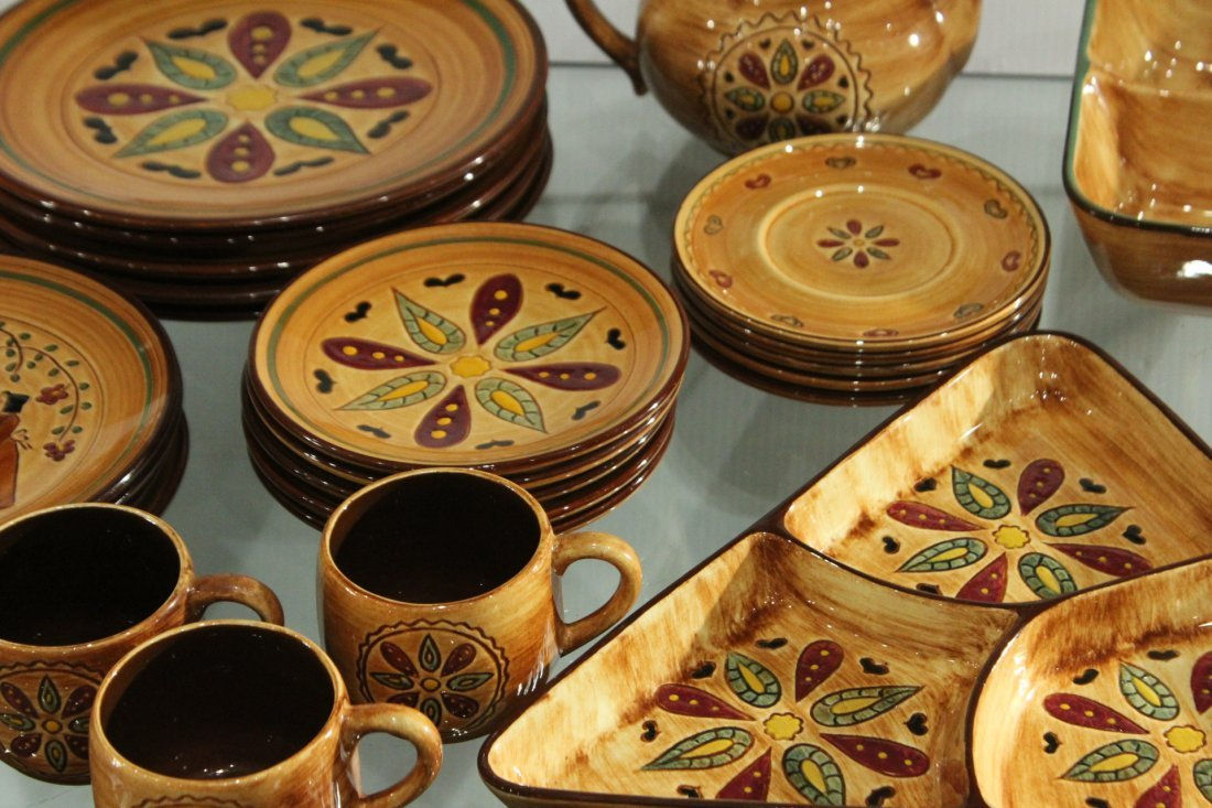 Pennsbury Pottery Dinner set Country star - 4