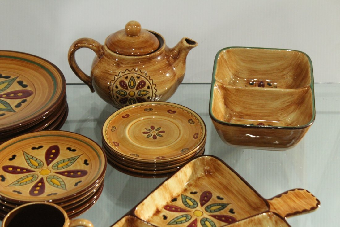 Pennsbury Pottery Dinner set Country star - 5