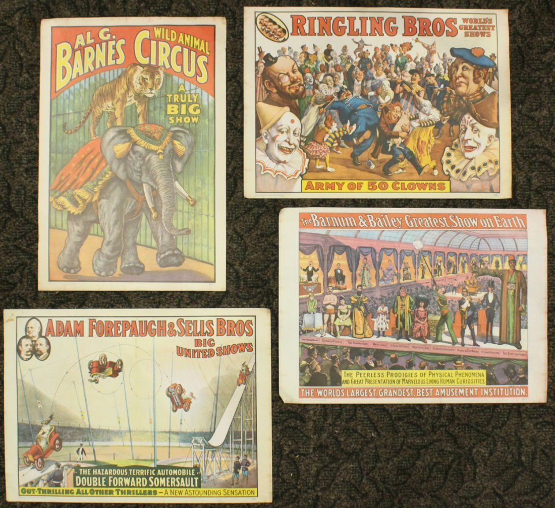 Collection of 4 vintage circus posters