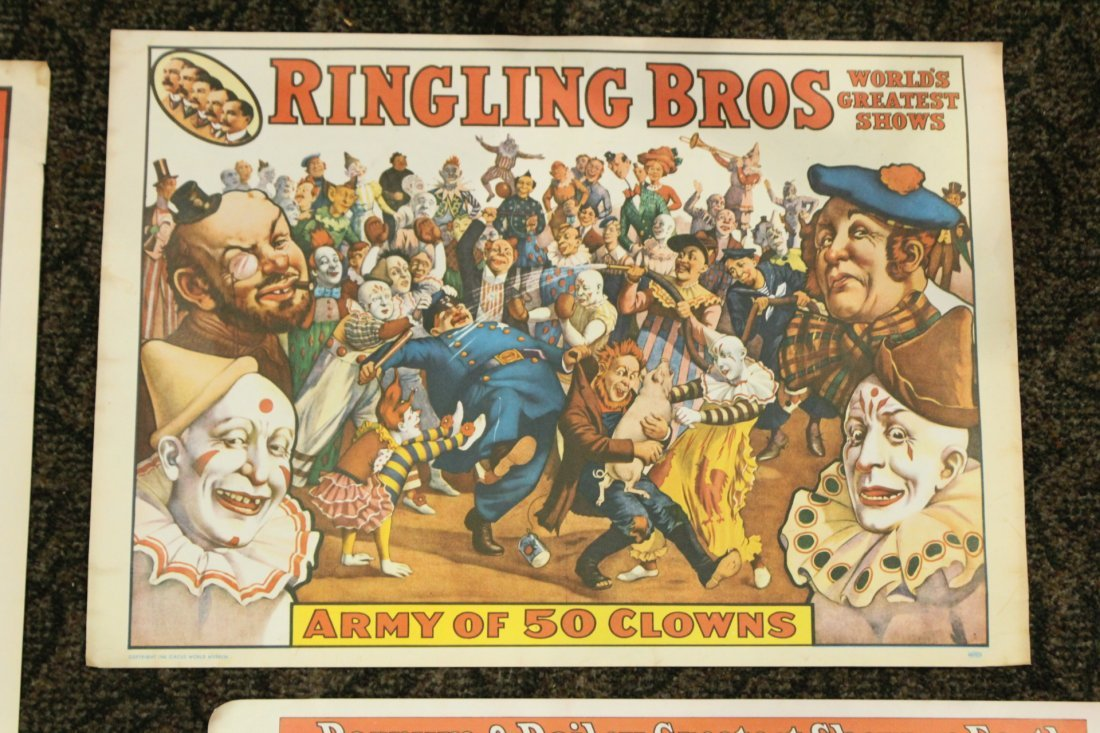 Collection of 4 vintage circus posters - 4
