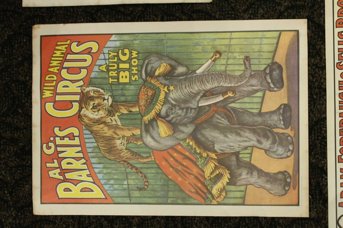 Collection of 4 vintage circus posters - 5