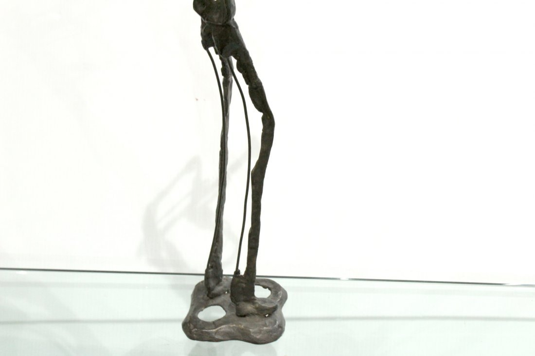 Manner of GIACOMETTI Bronze Jazz Trumpet Player Sculpt - 4