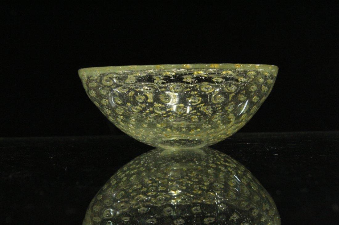 Vintage Mid-Century silver fleck Murano bowls - 2