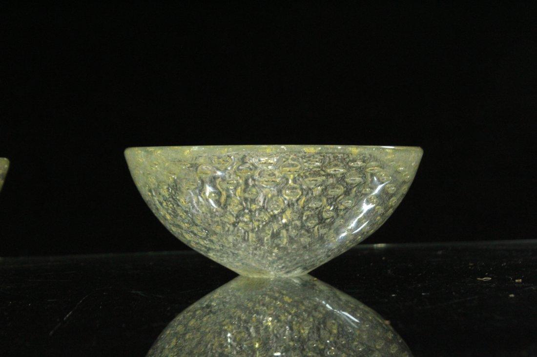 Vintage Mid-Century silver fleck Murano bowls - 3