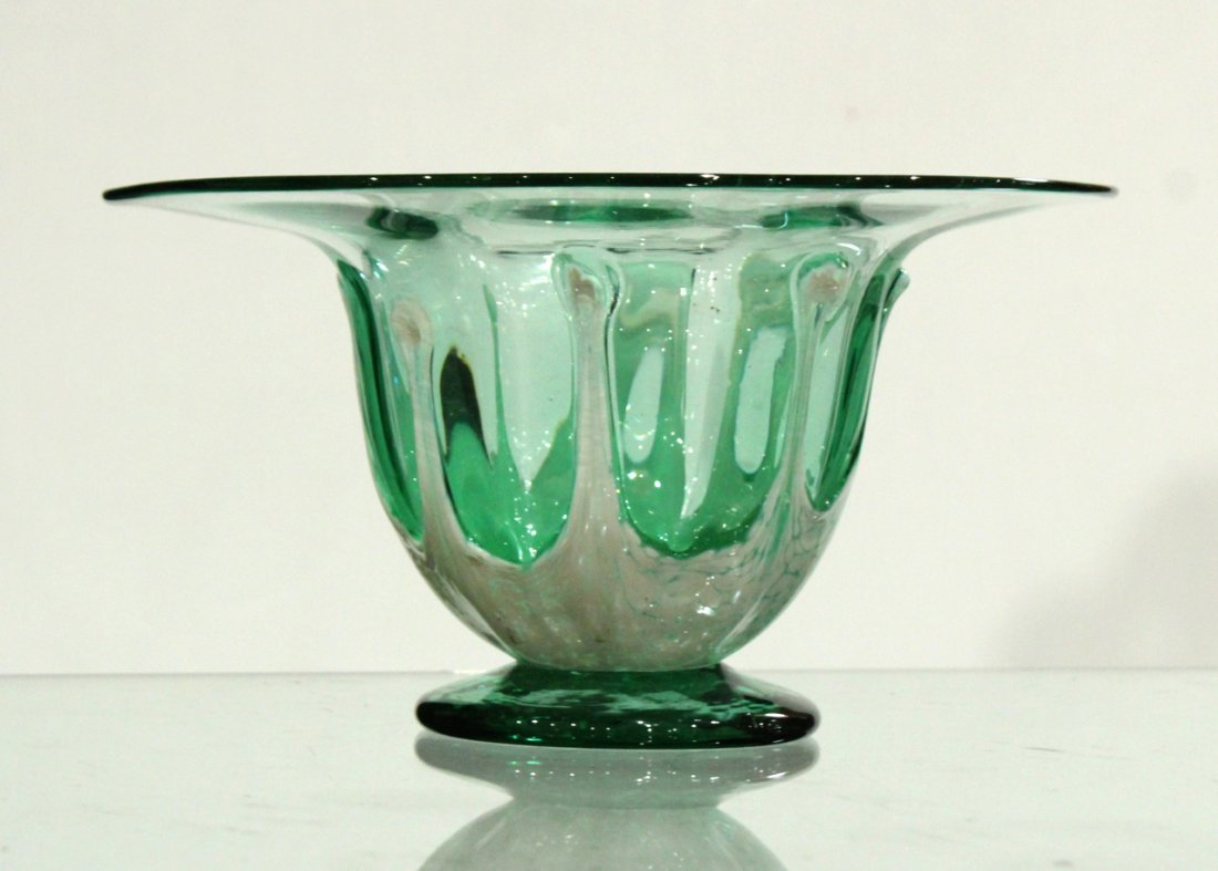 Mid-century vintage hand blown art glass vase