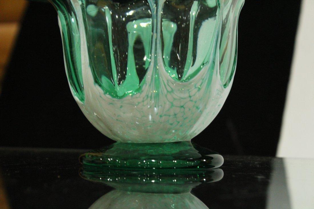 Mid-century vintage hand blown art glass vase - 3