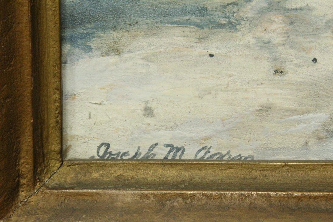 JOSEPH M AARON watercolor painting WINTER STREAM - 4