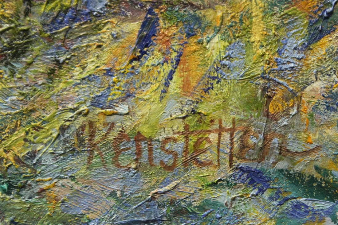 """Kerstetter abstract painting """"Patch of Blue"""" 1995 - 4"""
