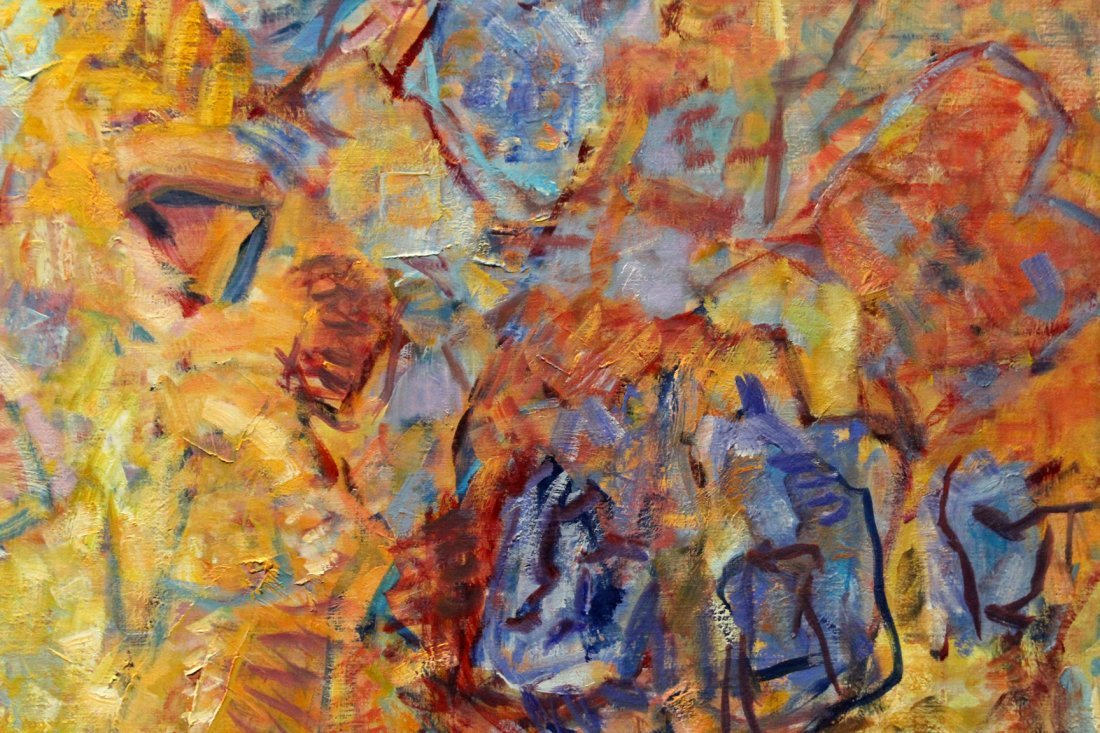 Kerstetter abstract painting on canvas - 4