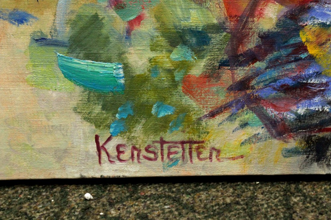 Kerstetter abstract painting on canvas - 5