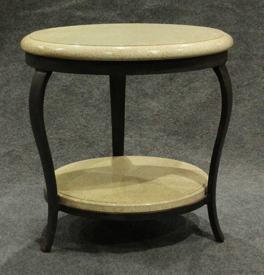 Modern Design ROUND OCCASIONAL TABLE Iron Frame, Marble