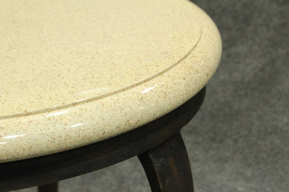 Modern Design ROUND OCCASIONAL TABLE Iron Frame, Marble - 3