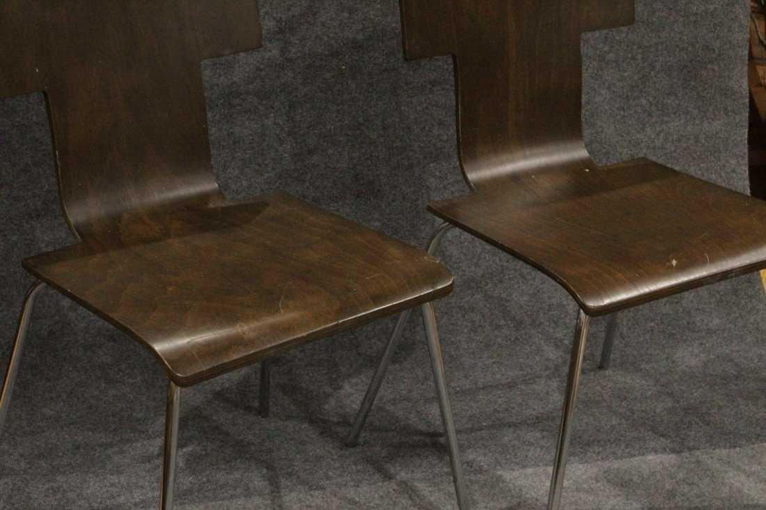 Pair ITALIAN MODERN DESIGN Bent Ply Side Chairs - 2