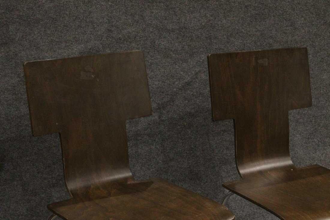 Pair ITALIAN MODERN DESIGN Bent Ply Side Chairs - 3
