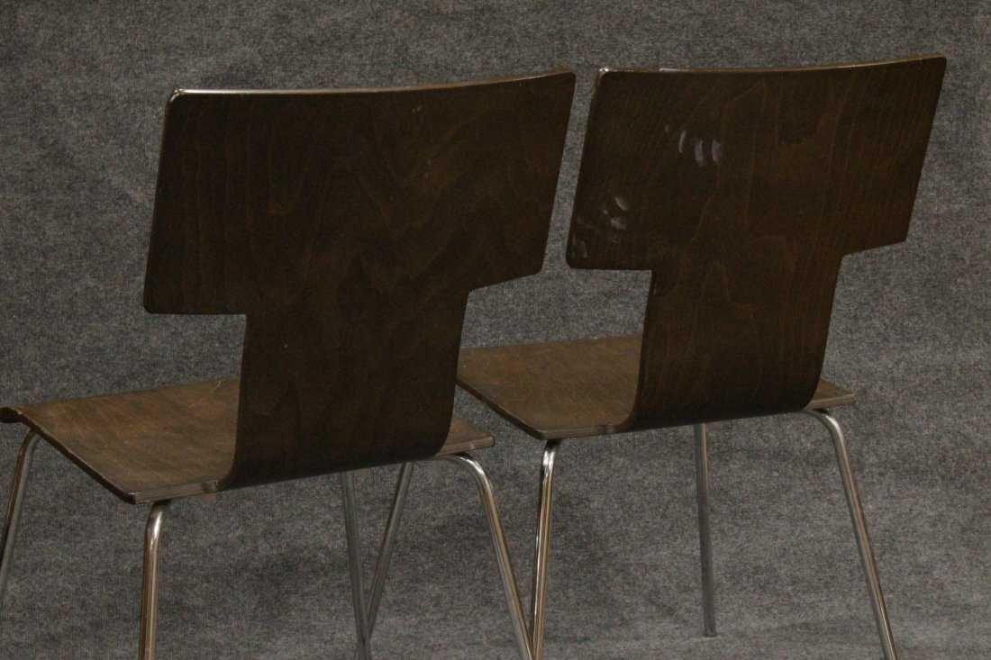 Pair ITALIAN MODERN DESIGN Bent Ply Side Chairs - 4