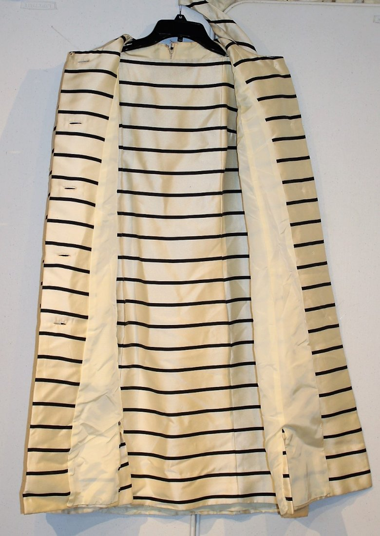 LORD & TAYLOR Black Striped Dress And Coat Size 8-10 - 6