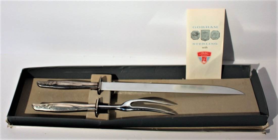 GORHAM STERLING 2-piece CARVING SET in original box