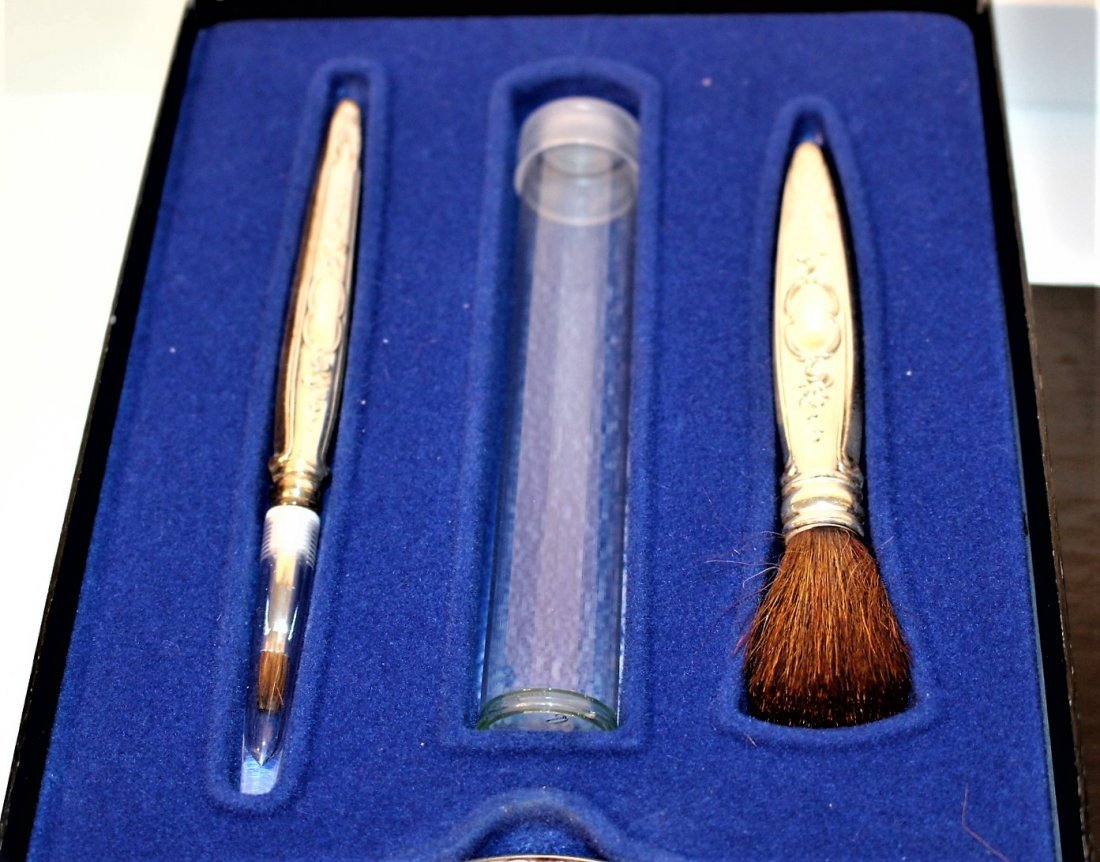 TOWLE STERLING Exquisite Cosmetics MAKE UP KIT in Case - 4