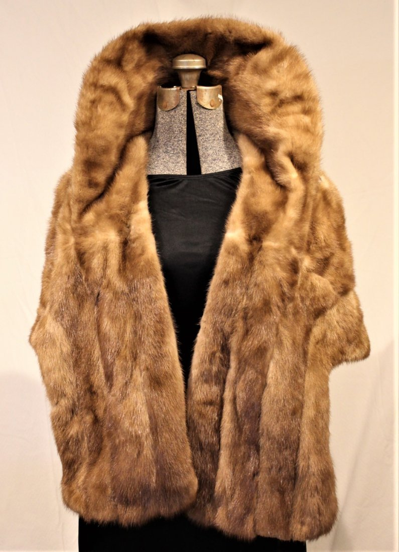 BLOND MINK STOLE - 17 inches length - 2