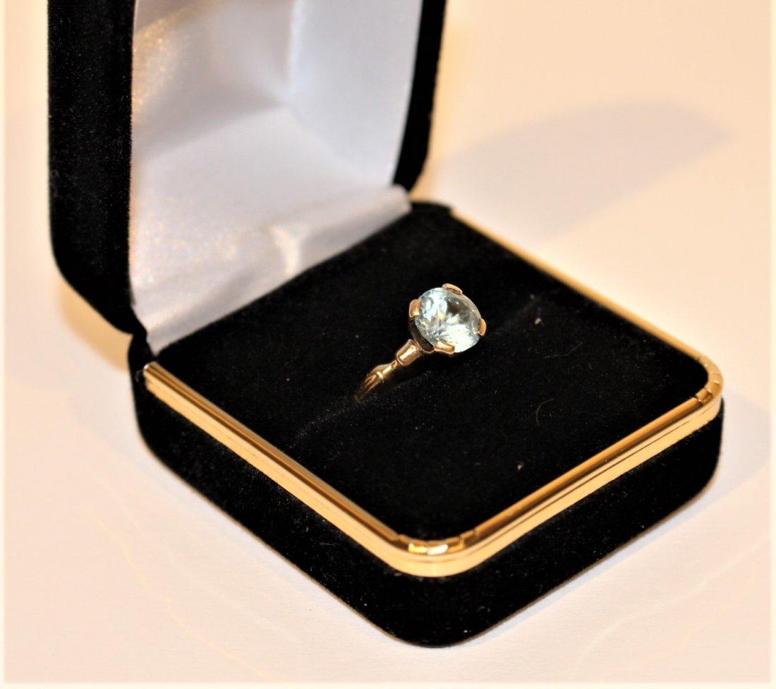 Marked 18K & 14K GOLD TOPAZ RING Size 5.5