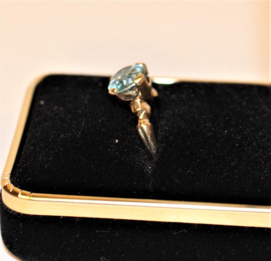 Marked 18K & 14K GOLD TOPAZ RING Size 5.5 - 2