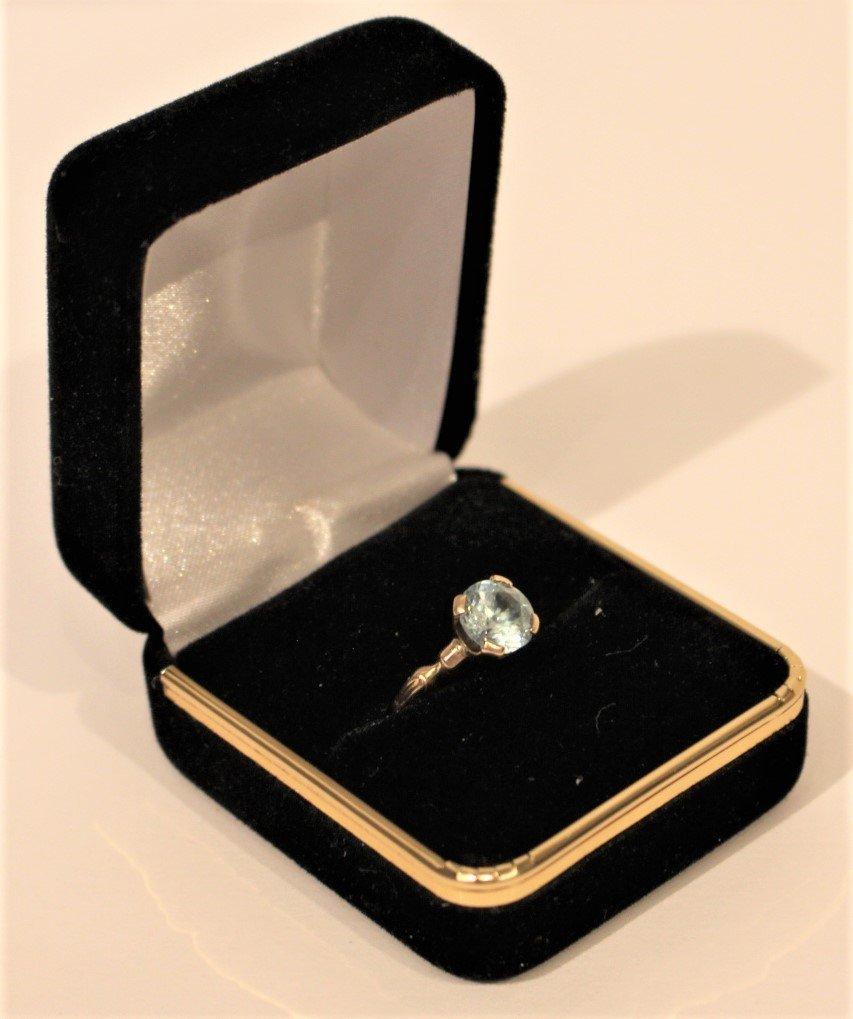 Marked 18K & 14K GOLD TOPAZ RING Size 5.5 - 5