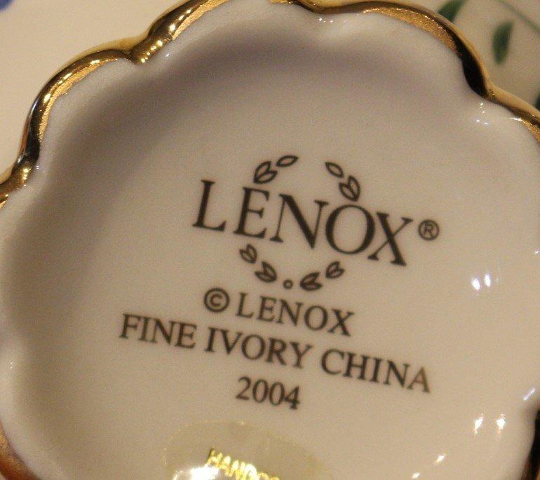 Nine [9] Assorted LENOX PORCELAIN MINIATURE TEA POTS - 4