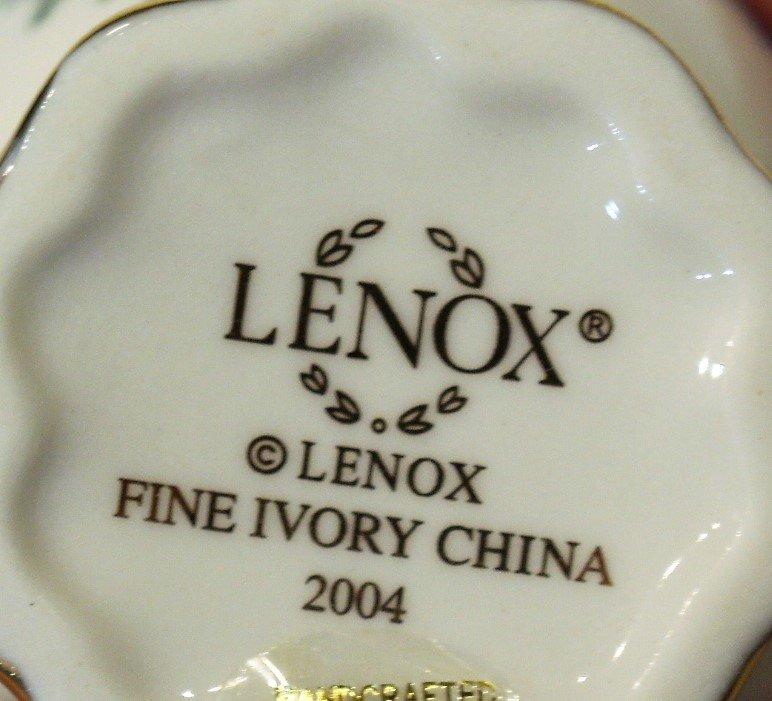 Nine [9] Assorted LENOX PORCELAIN MINIATURE TEA POTS - 5